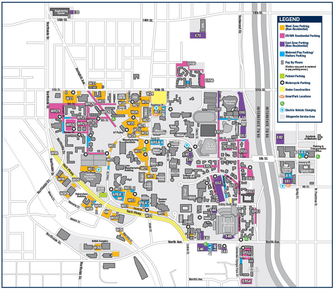 Visit Georgia Tech Georgia Tech – Tourist Attractions Map In Atlanta