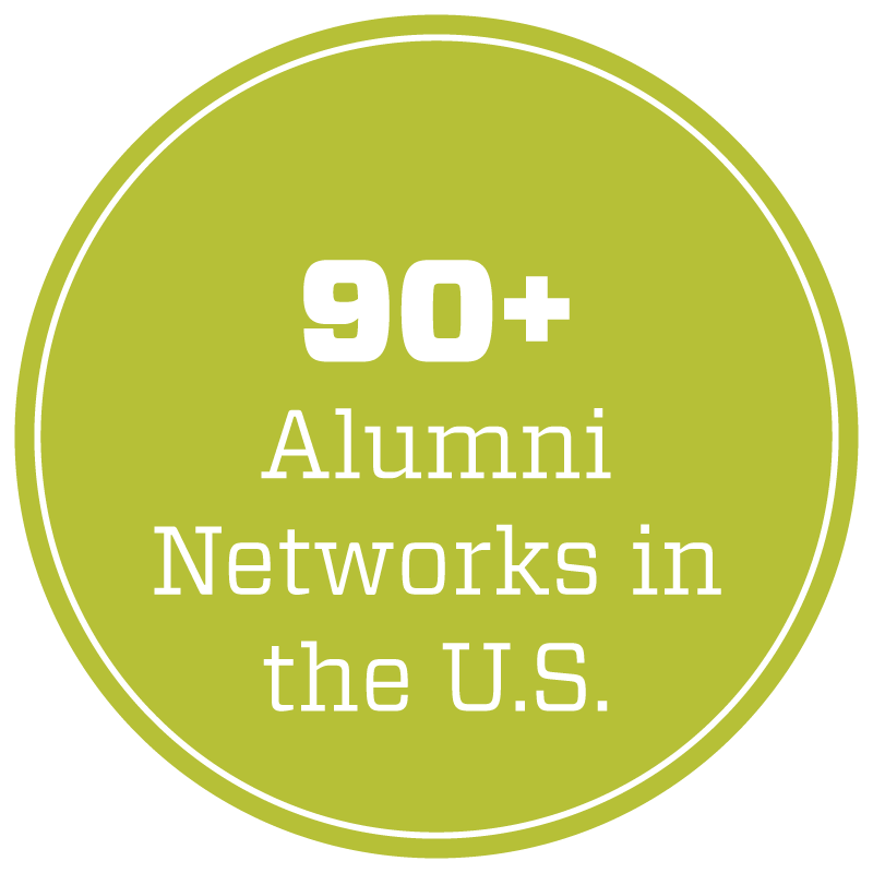 More than 90 Alumni Networks in the U.S.