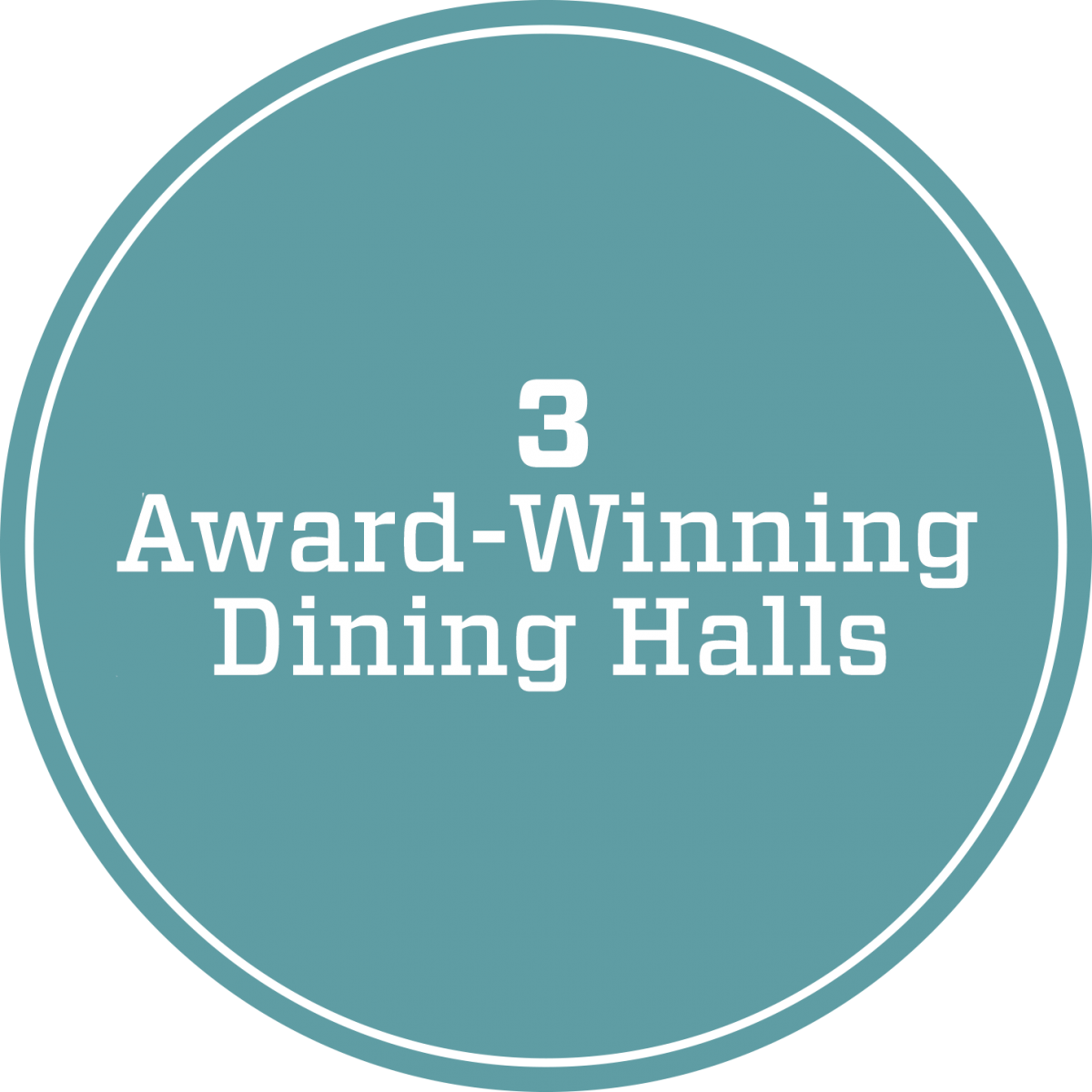 3 award-winning dining halls