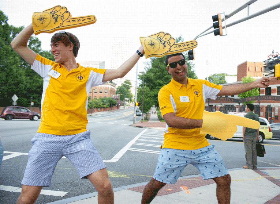 Georgia Tech FASET leaders welcome new students and their parents to campus.