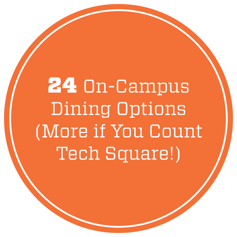 24 on-campus dining options (more if you count Tech Square!).