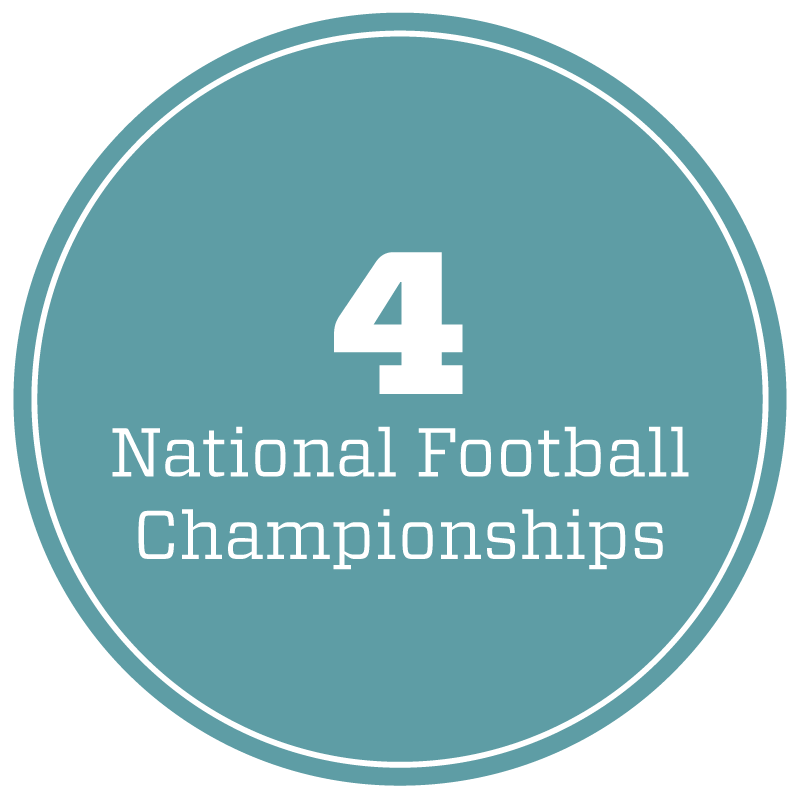 4 National Football Championships
