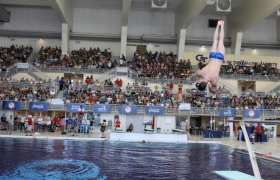 Big crowds attend USA Diving send-off