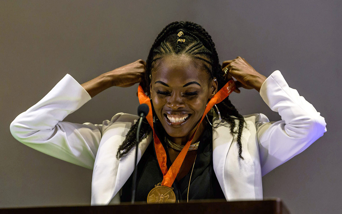 Olympian and Econ Alumna Chaunté Lowe