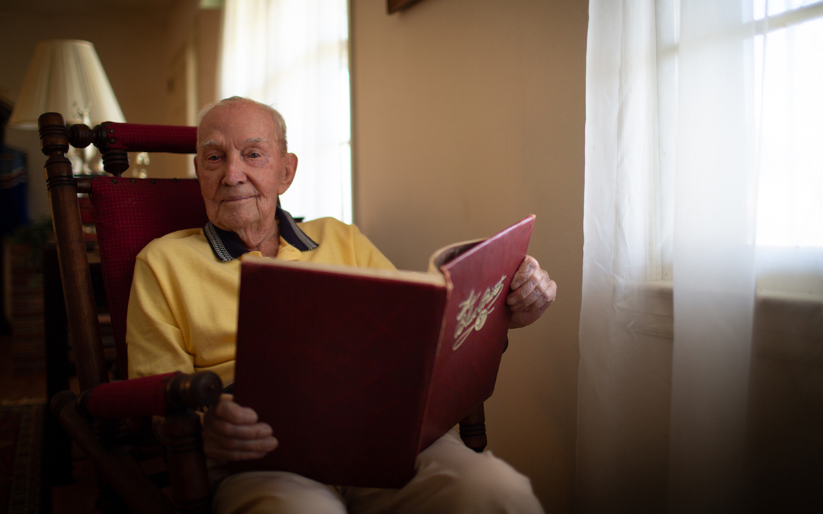 """Georgia Tech's oldest living alumnus, George """"Roy"""" Bethune, turned 106 on March 10."""