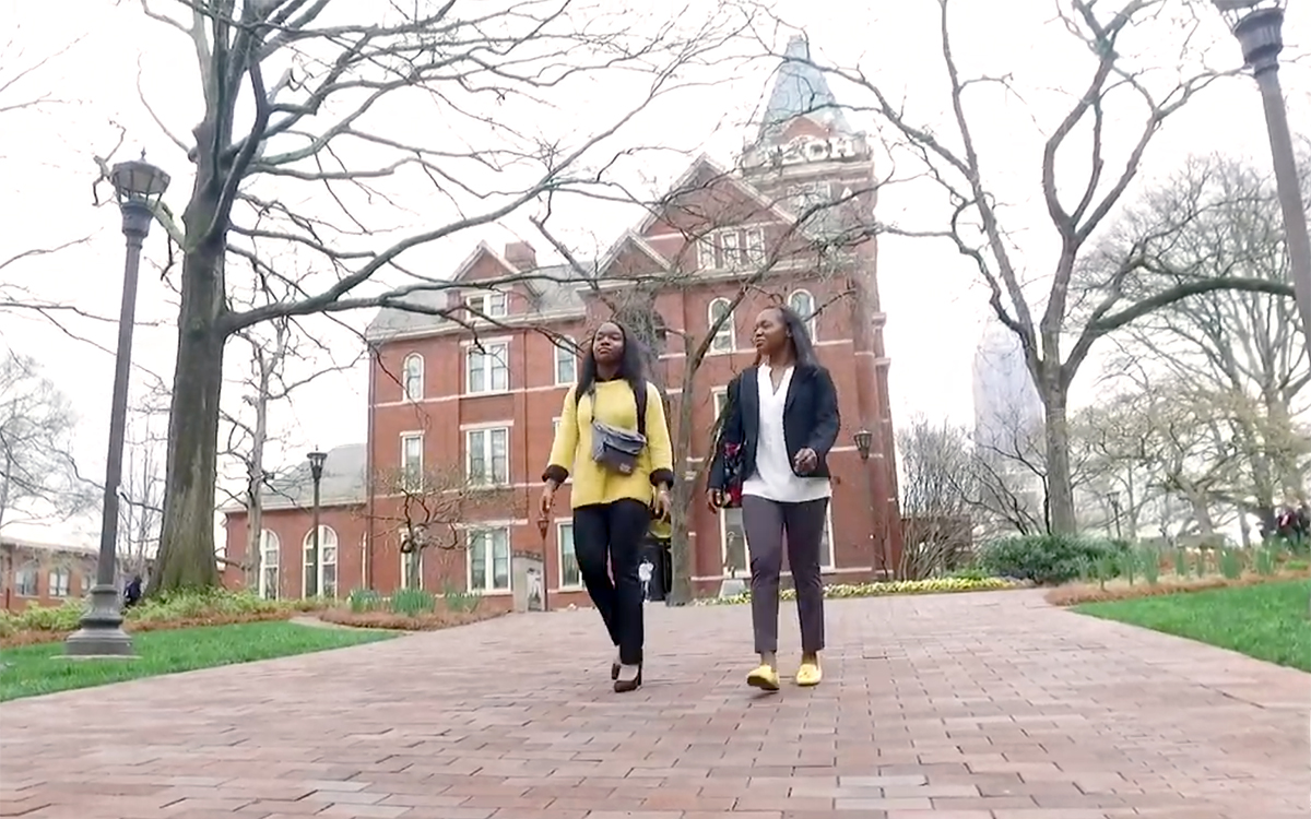 First-generation college students from rural Georgia, twin sisters Marquetta and Marteisha Griffin.