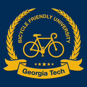 "An infographic that reads ""Bike Friendly University- Georgia Tech"""
