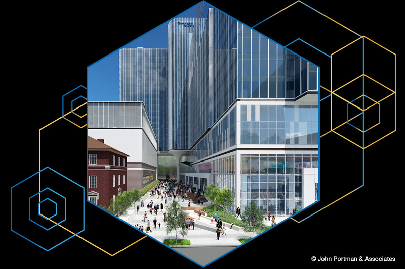A rendering of the CODA building
