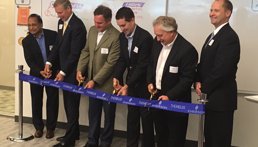 Emerson innovation center ribbon cutting