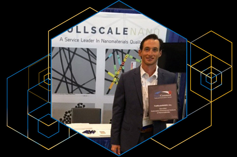 Jeffrey Whalen, co-founder of FullScaleNANO, accepted the TechConnect Innovation Award at the TechConnect World Innovation Conference & Expo May 22-25 in Washington, D.C.